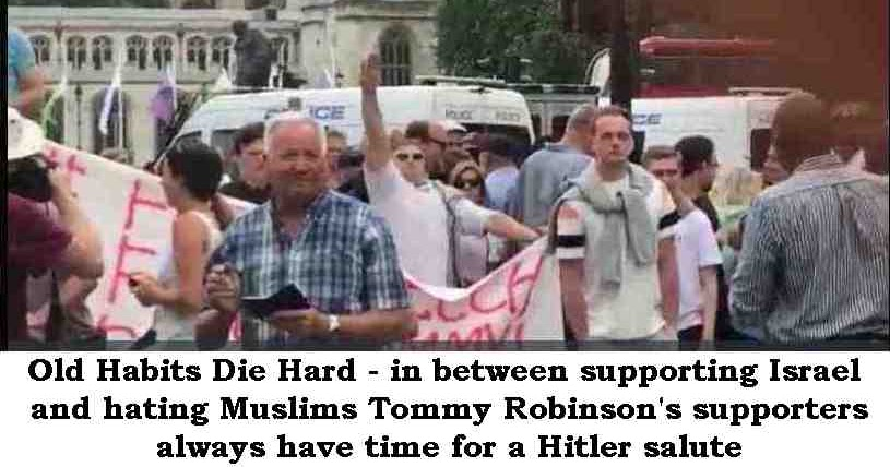 Image result for tommy robinson nazi salute