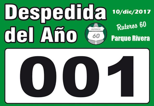 5k Ruteros 60 - Despedida del año en el parque Rivera (Montevideo, 10/dic/2017)