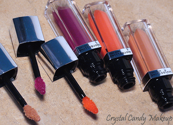 Color Elixir Raspberry Rhapsody, Nude Illusion et Mandarin Rapture de Maybelline - Swatches - Avis