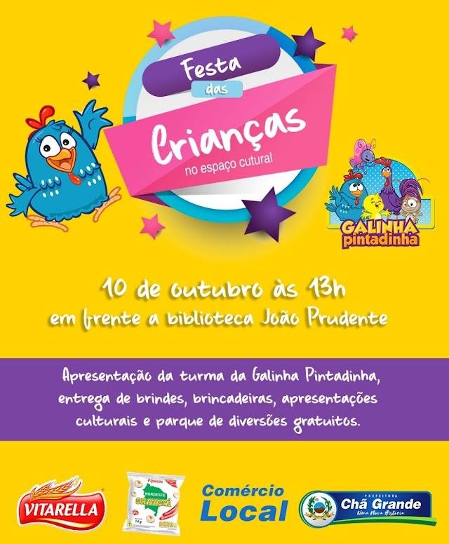 Centro Cultural promove Festa das Crianças em Chã Grande