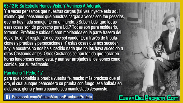 Si piensas que tus cargas son tan pesadas - Citas William Marrion Branham