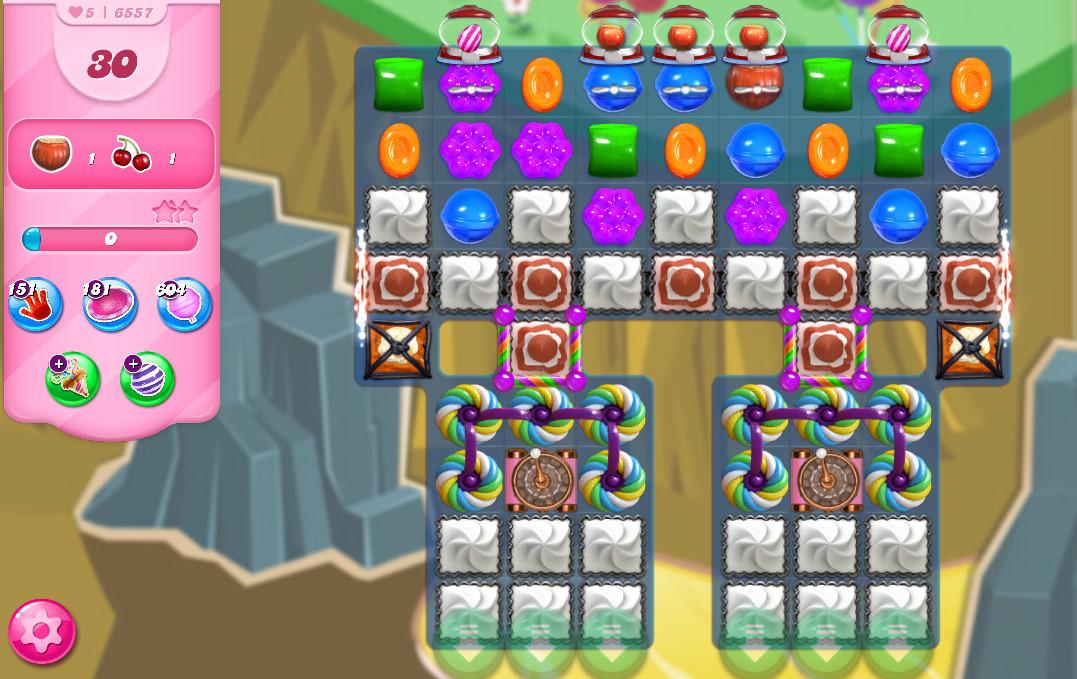 Candy Crush Saga level 6557
