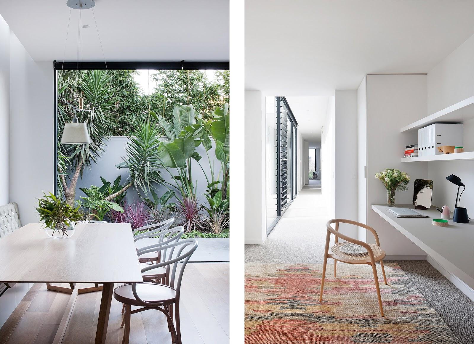 Casa con cortile giardino interno by robson rak architects - Giardino interno casa ...
