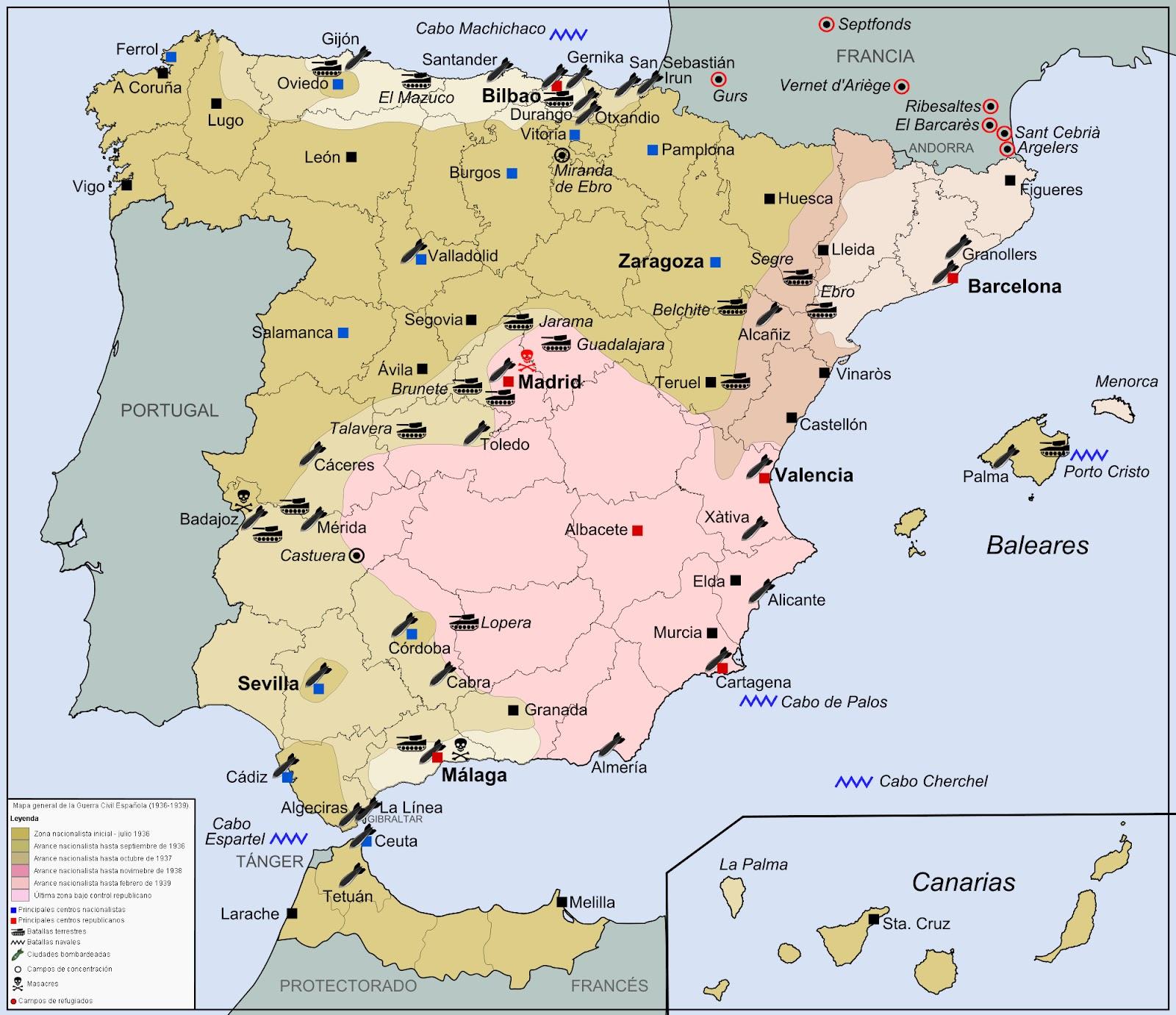 ferrol espanha mapa Fazendo História Nova: A Guerra Civil Espanhola ferrol espanha mapa