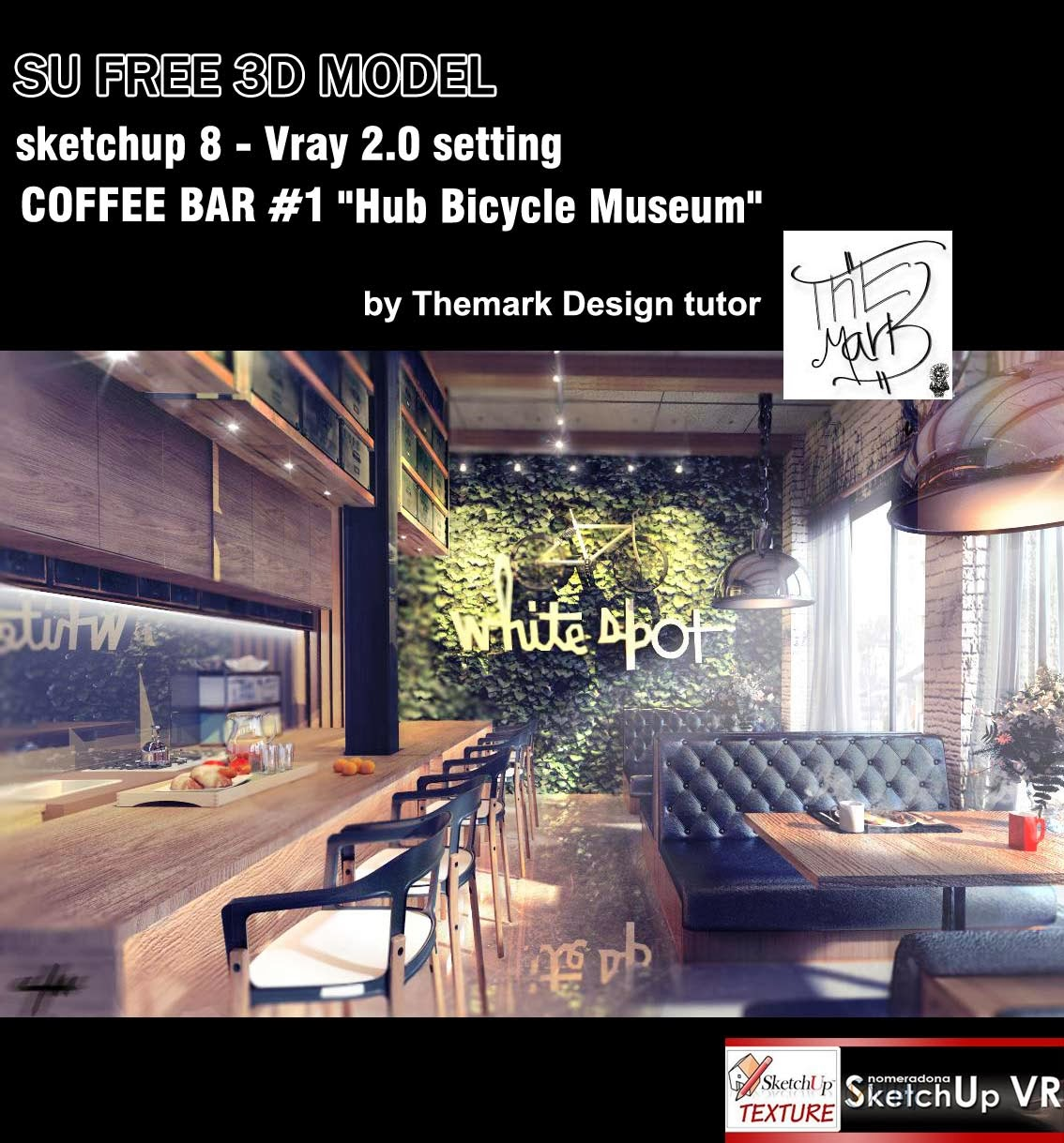 SKETCHUP TEXTURE FREE SKETCHUP 3D MODEL COFFEE BAR 1