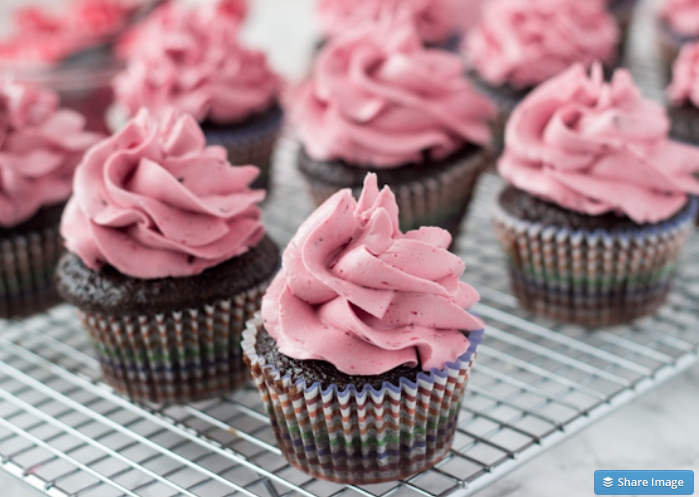 The Best Red Wine Chocolate Cupcakes