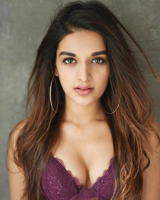 Nidhhi Agerwal Glamourous Pose in Lingerie