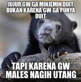 70 Meme Dan DP BBM Lucu Tentang Hutang