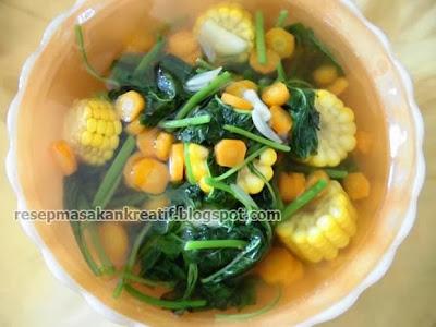 Cara Membuat Sayur Bayam Jagung Bening Resep Sederhana RESEP SAYUR BAYAM JAGUNG BENING SEDERHANA