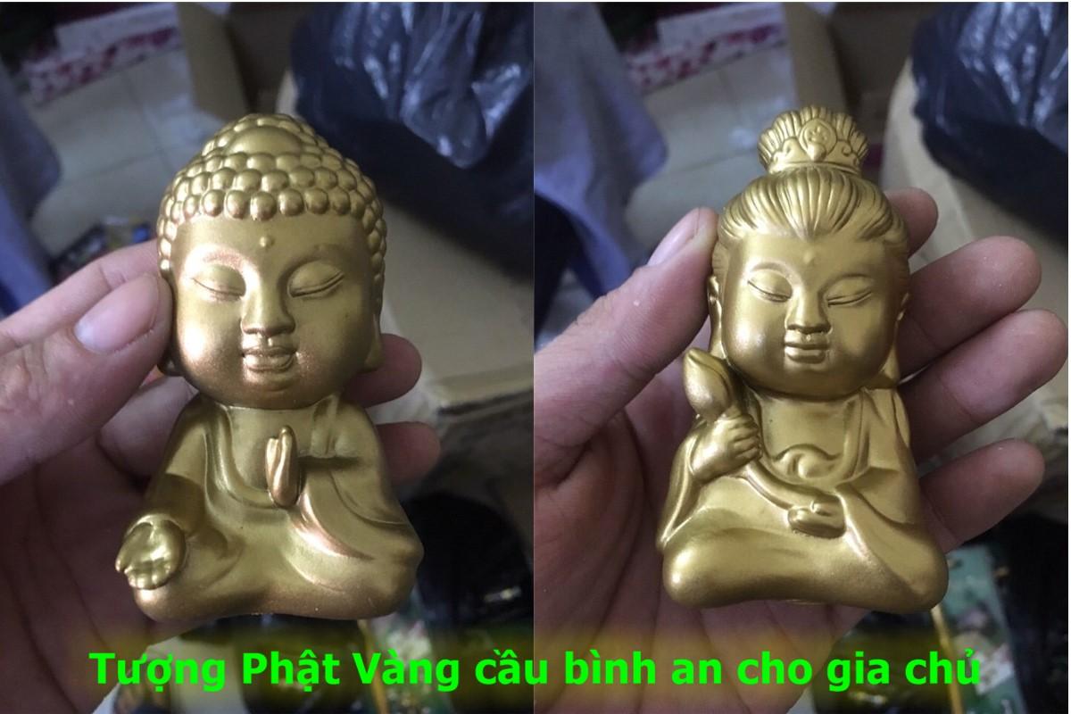 30k - Tượng Phật vàng trang trí xe hơi cầu bình an giá sỉ và lẻ rẻ nhất