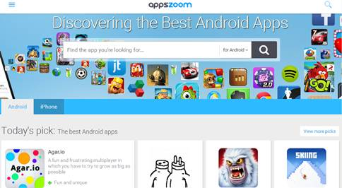 AppsZoom download aplikasi Android alternatif Play store