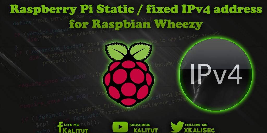 Raspbian Wheezy Static / fixed IPv4 address