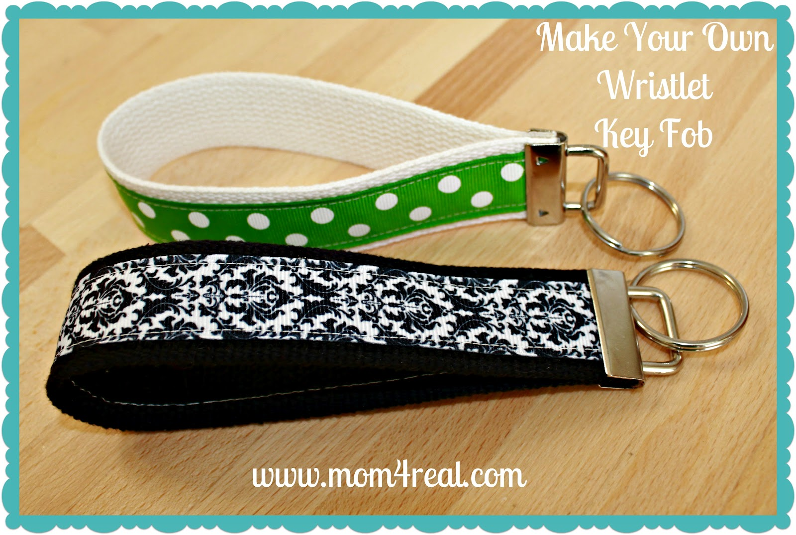 Make Your Own Wristlet Key Fob - Mom 4 Real