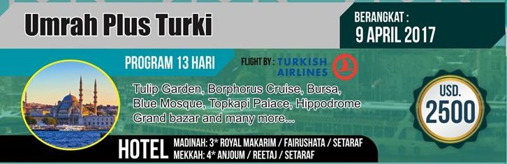 Paket Umroh Plus Turki 13Hari