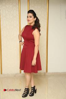 Telugu Tollywood Anchor Manjusha Pos in Red Short Dress  0146.JPG