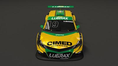 O carro de Felipe Massa na Corrida do Milhão da Stock Car (Cimed Chevrolet Racing/RF1/Vipcomm)