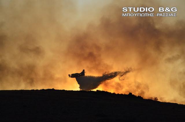 Σε ύφεση η πυρκαγιά στην Αρκαδία