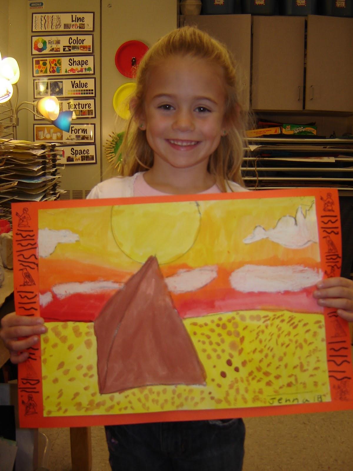 Jamestown Elementary Art Blog 1st Grade Egyptian Pyramids
