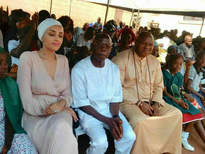 Adams Oshiomhole and his wife make first public appearance since handover