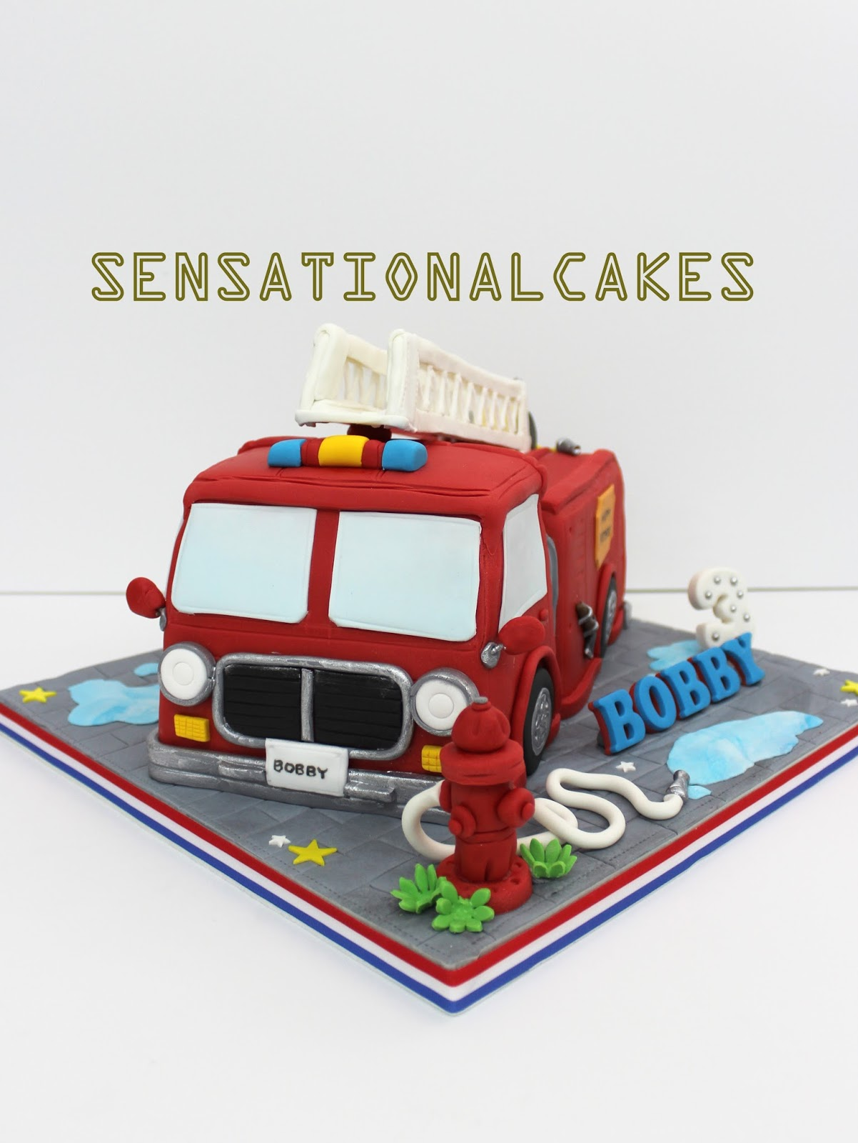 Fire Engine Birthday Cake Singapore
