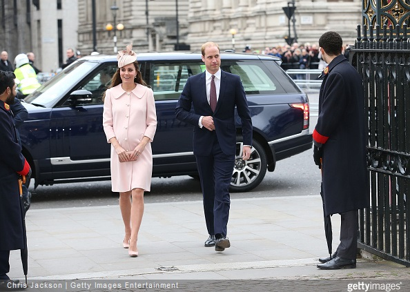 Catherine, Duchess of Cambridge attends Westminster Abbey Service