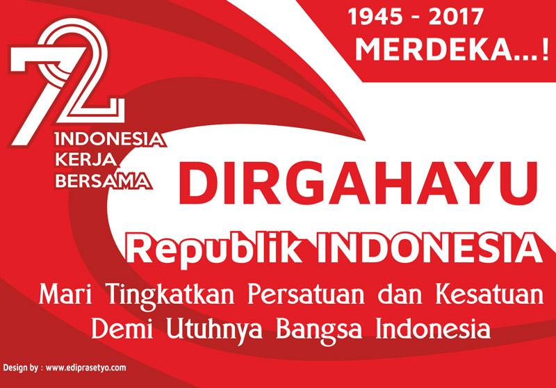 Download Desain Banner HUT Kemerdekaan Indonesia KE 72 tahun 2017