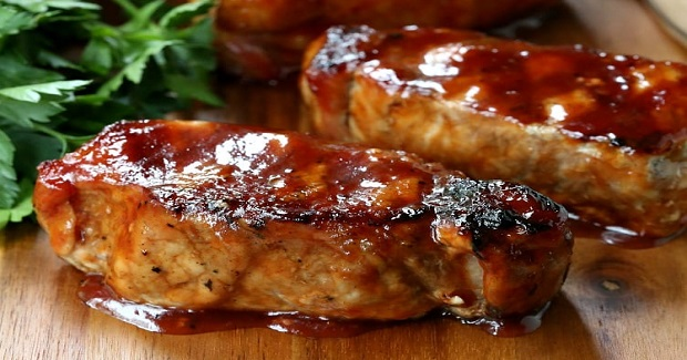 Cider Brined Pork Chops With Brown Sugar Applewood BBQ Sauce Recipe