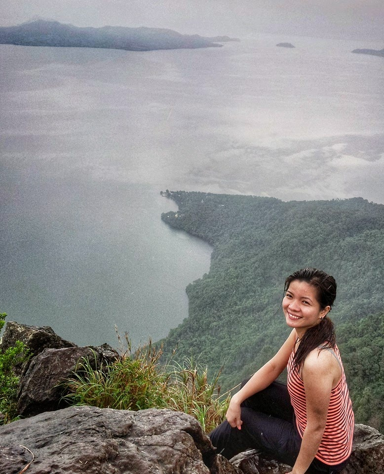 Cindy Ferrer at the right cliff of Rockies