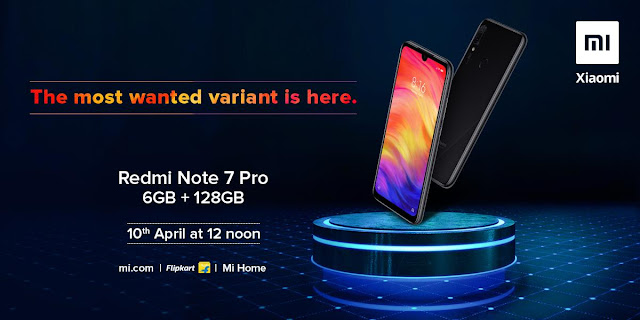 Redmi Note 7 Pro 6GB RAM/128GB variant goes on sale tomorrow at 12PM