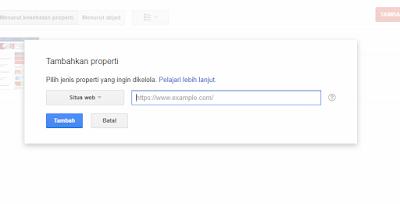 Cara Mendaftarkan Blog atau Website ke Google Webmaster Tools