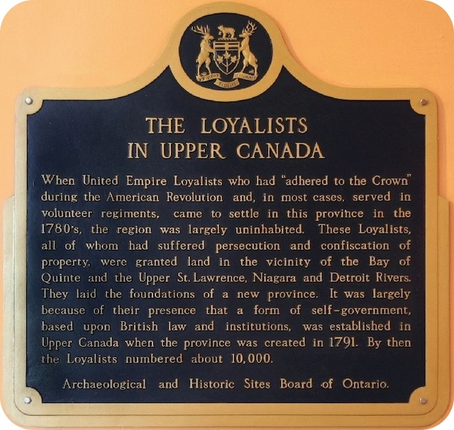 The Loyalists in Upper Canada