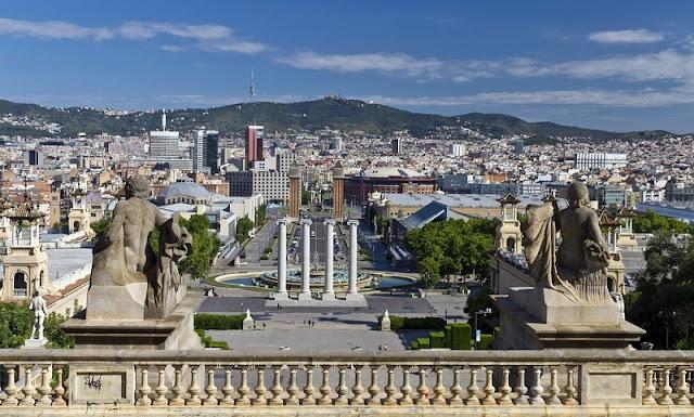 Bairro de Montjuic em Barcelona
