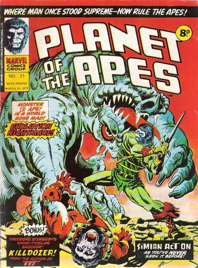 Planet of the Apes #21, Marvel UK