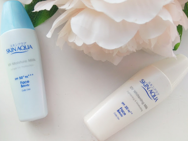 Perbedaan Skin Aqua UV Whitening Milk dan Skin Aqua UV Moisture Milk