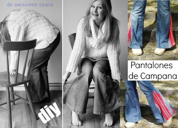 pantalones campana, pantalones, bricomoda, refashion, moda