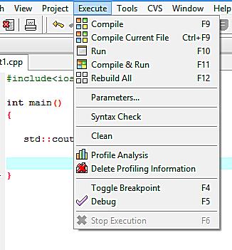 write a program in Dev-C++