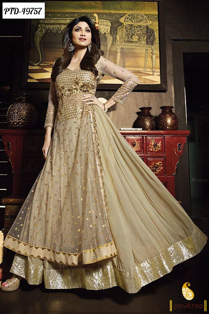 Shilpa Shetty Anarkali Salwar Kameez and Dresses Online Shopping