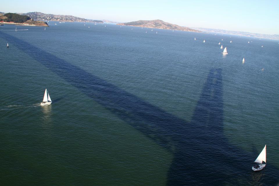 Sails and shadow, san francisco golden gate bridge