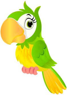This is an image of parrot says amazing facts in hindi
