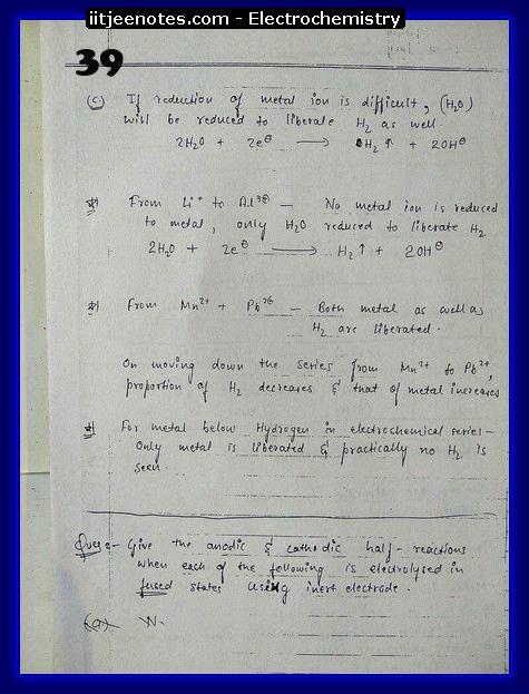 Electrochemistry Notes IITJEE9