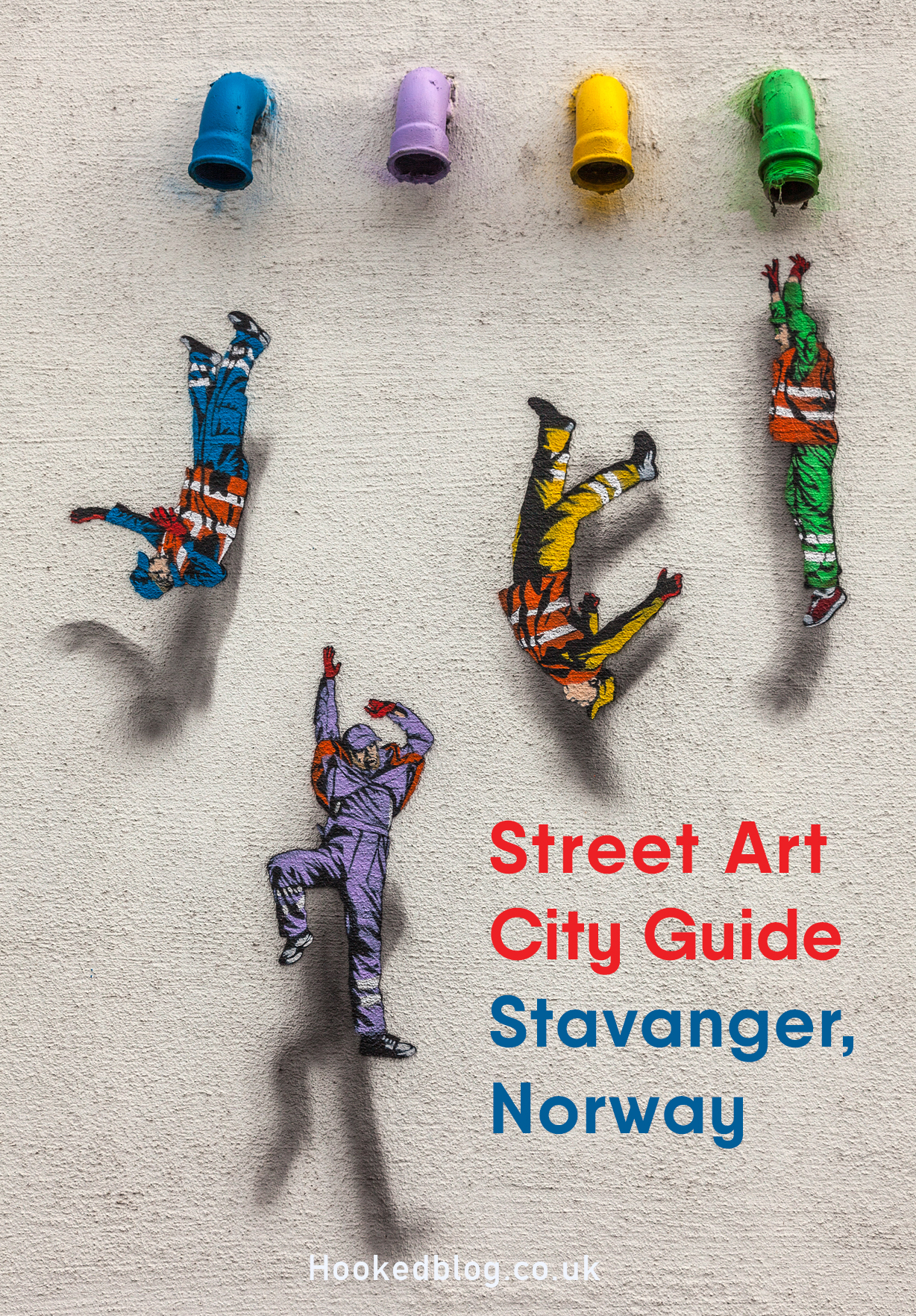 In this Hookedblog city guide, we will help you discover some of the very best street art in the Norwegian city of Stavanger. Location map included. #streetart #graffiti #travel