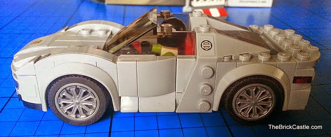LEGO Porsche 918 Spyder 75910 Hybrid Supercar side view