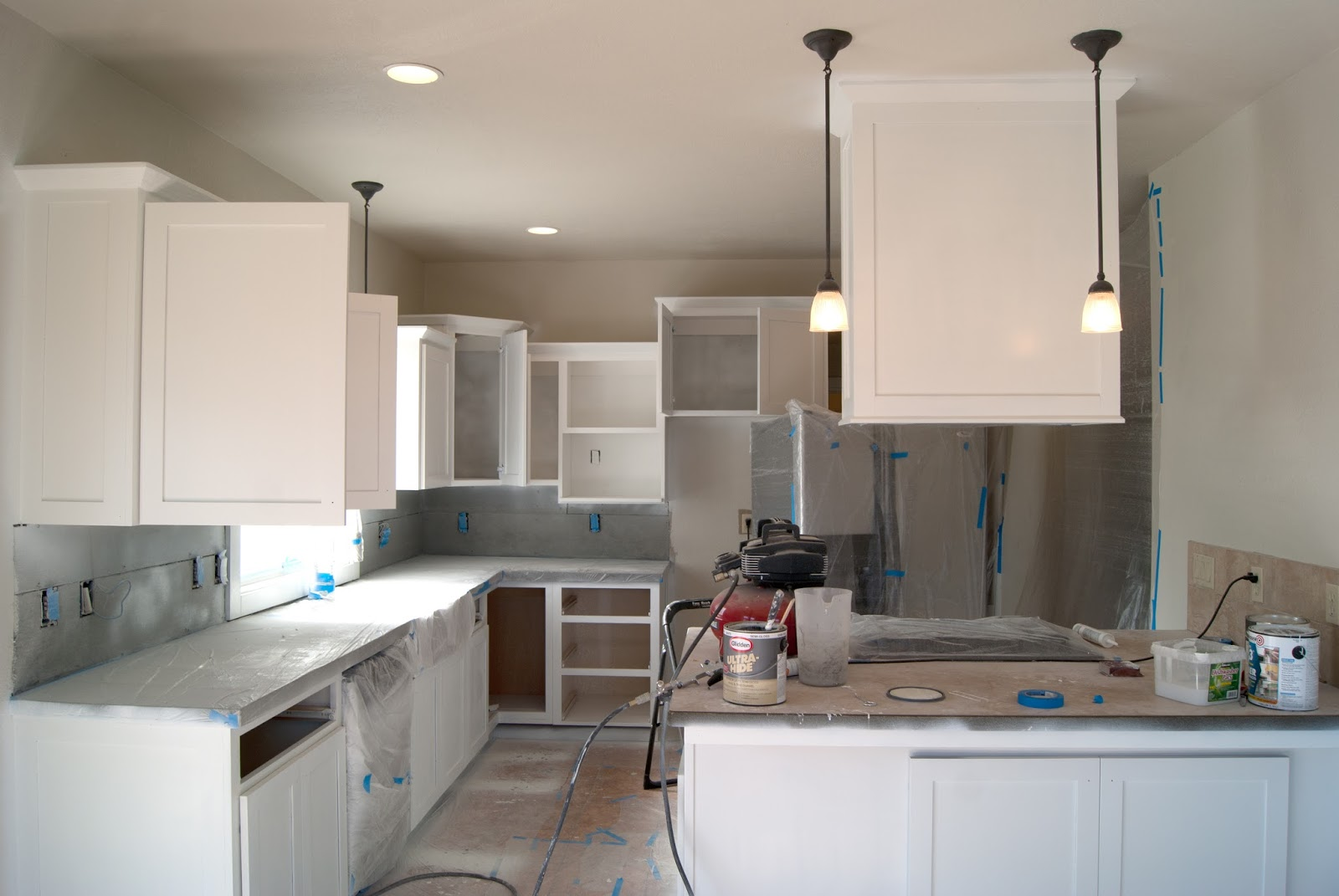 Painting the Kitchen Cabinets - Primer + Paint | Averie ...