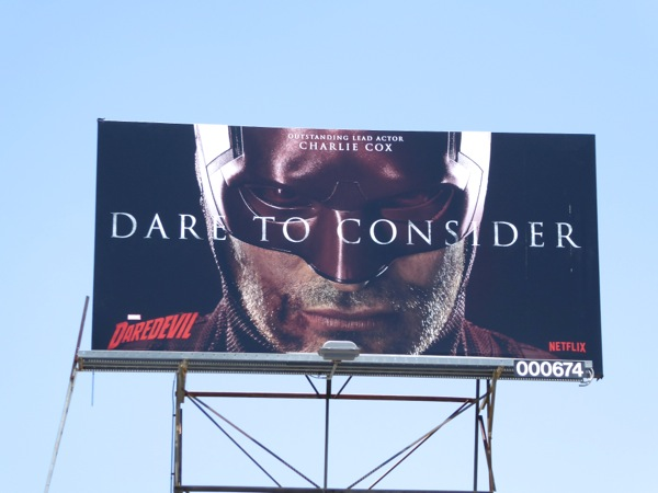 Dare to Consider Charlie Cox Daredevil 2016 Emmy billboard
