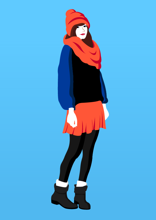 Orange skirt girl - Jen Haugan Animation & Illustration