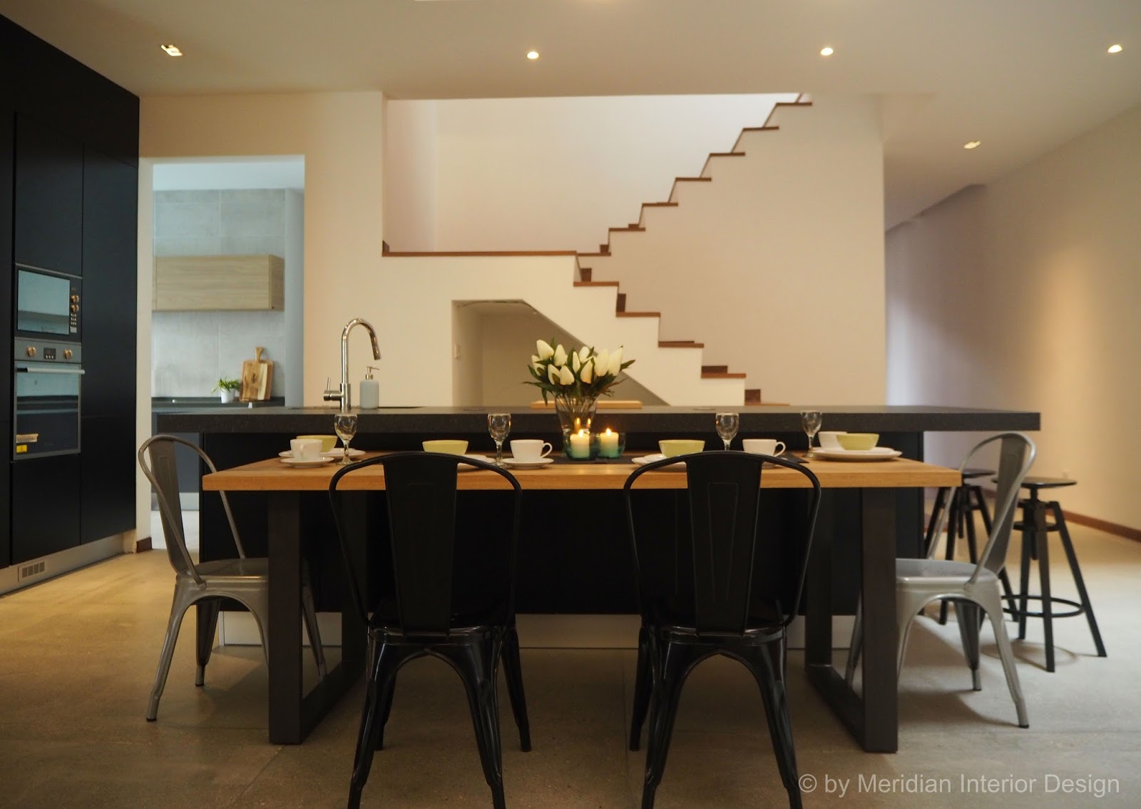Meridian interior design and kitchen design in kuala for Industrial modern kitchen designs