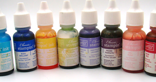 STAMPING DESTASH - Lot of 8 Stampin' Up Ink Refill Bottles - $10