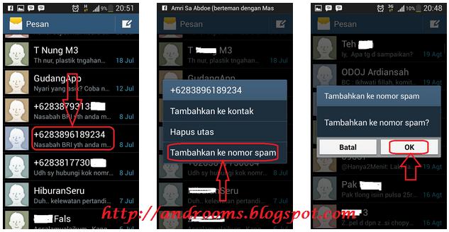 Cara Blokir Nomor SMS di HP Android
