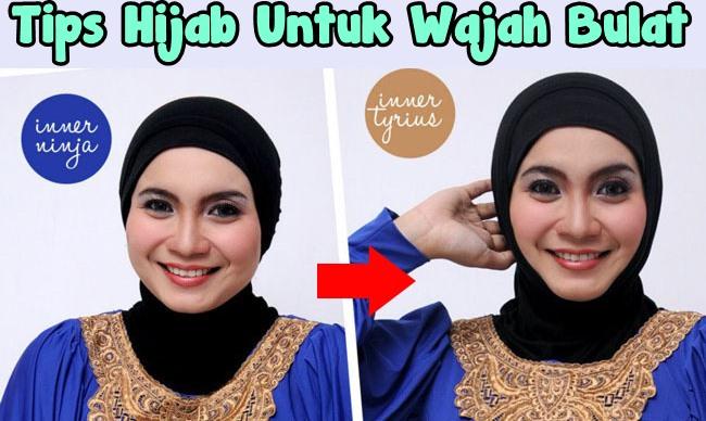 Cara Memakai Jilbab Untuk Wajah yang Bulat