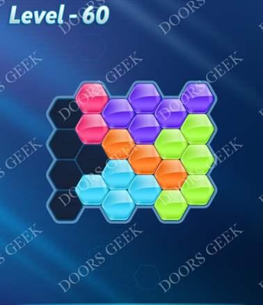 Block! Hexa Puzzle [Intermediate] Level 60 Solution, Cheats, Walkthrough for android, iphone, ipad, ipod